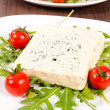 Stock Photo: Cherry tomato and blue cheese
