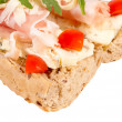 Prosciutto sandwich — Stock Photo