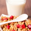 Stock Photo: Milk and musli