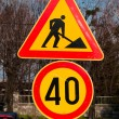 Works on road — Stock Photo