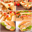 Sandwich meal — Stock Photo