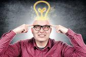 Man with idea — Stock Photo