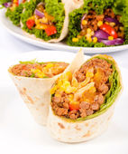 Half burrito — Stock Photo