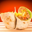 Half of burrito — Stock Photo