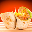 Stock Photo: Half of burrito