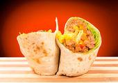 Half of burrito — Stock Photo