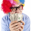 Money clown — Stock Photo