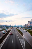 Highway at dusk — Stockfoto
