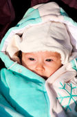 Winter baby — Stock Photo