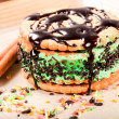 Stock Photo: Green cake