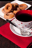 Coffee and donuts — Stock fotografie