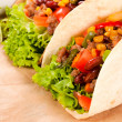 Taco on table — Stock Photo #21692721