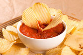 Ribbed chips — Stock Photo