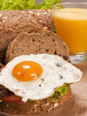 Egg on bread — Stock Photo