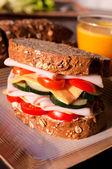 Ev yapımı sandwich — Stok fotoğraf