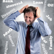 Stock Photo: Stress man