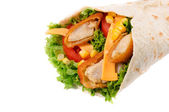Chicken wrap isolated — Stock Photo