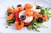 Shrimp salad — Stock fotografie