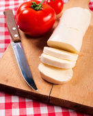 Mozzarella slices — Foto de Stock