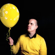 Yellow balloon — Stock Photo