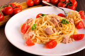 Tuna spaghetti — Stock Photo