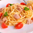 Spaghetti tuna - Stock Photo