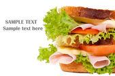 Jambonlu sandviç — Stok fotoğraf