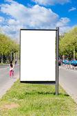 Boş sokak billboard — Stok fotoğraf