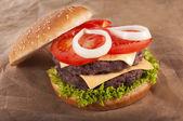 Beff burger — Stock Photo