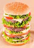 Huge hamburger — Stock Photo