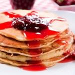 Homemade pancakes — Stock Photo