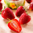 Organic strawberry — Stock Photo