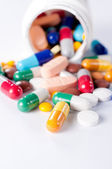 брызг таблетки — Стоковое фото