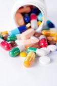 Espirrado comprimidos — Foto Stock