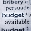 Budget word — Stock Photo