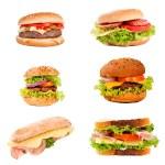 Sandwich and hamburger — Stock Photo #26311147