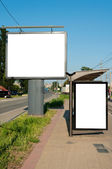 Two billboards — Stockfoto