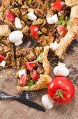 Torta de carne caseiro — Foto Stock