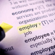 Stock Photo: Employ word