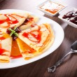 Yummy pancakes — Stock Photo