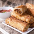 Fried meat rolls — Stock Photo