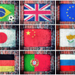 Flags in wall — Stock Photo