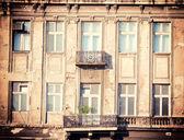 Gamla balkong — Stockfoto