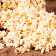 Splashed pop corn — Stock Photo