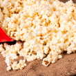 Pop corn splash — Stock Photo