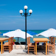 Restaurant on the beach — Stock Photo