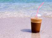 Beach coffee — Stock Photo