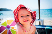 Baby at the beach — Stock Photo