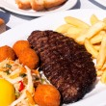 Beef burger — Stock Photo