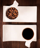 Raw dark coffee — Stock Photo